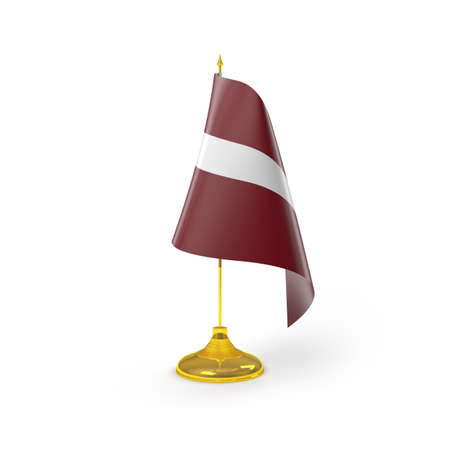 latvia flag: Latvia Flag Detail Render