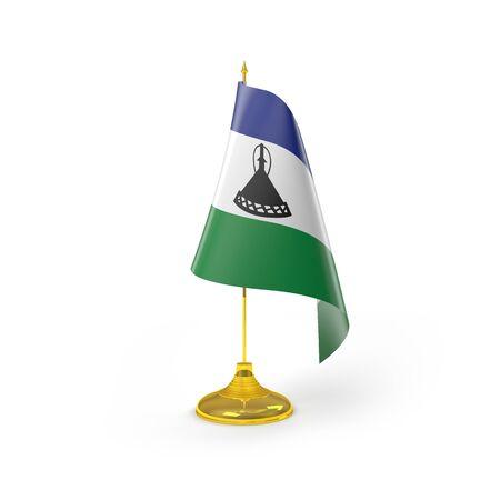 lesotho: Lesotho Flag Detail Render
