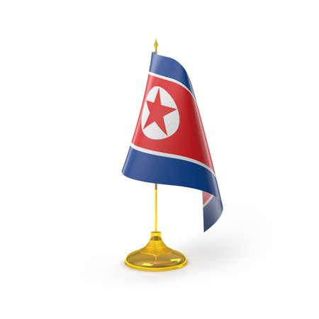 north korea: North Korea Flag Detail Render