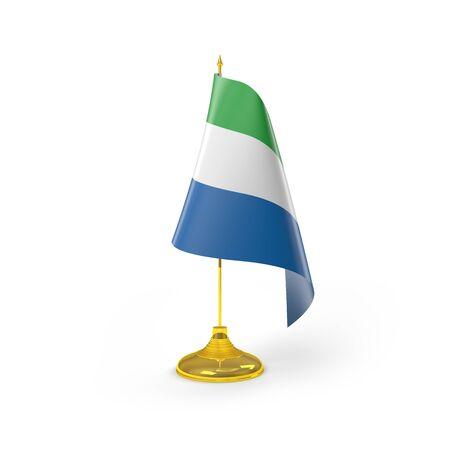 Sierra Leone Render D�tail Drapeau Banque d'images