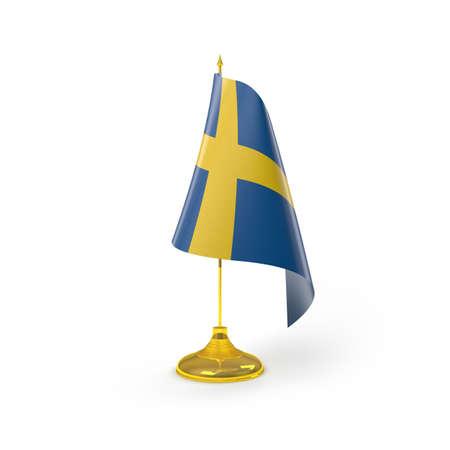 Sweden Flag Detail Render photo