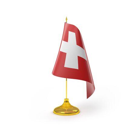 Rendu Suisse D�tail Drapeau Banque d'images
