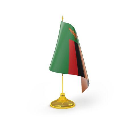 zambia flag: Zambia Flag Detail Render Stock Photo