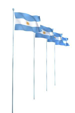 argentine: Argentine Flag Detail Render