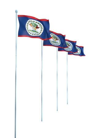 Bandera de Belice Detalle Render photo