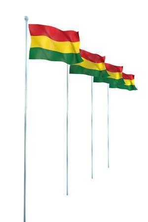 bandera bolivia: Bandera de Bolivia Detalle Render