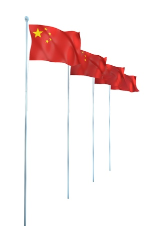 China Flag Detail Render photo