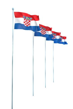 Croatia Flag Detail Render photo