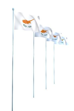cyprus: Cyprus Flag Detail Render