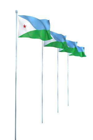 Rendu Djibouti D�tail Drapeau