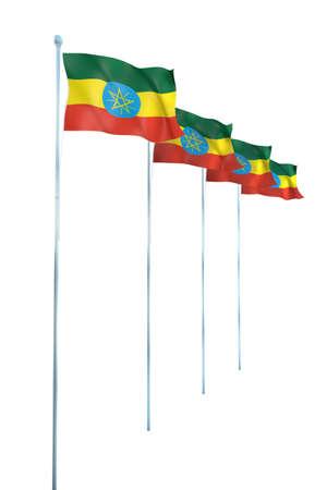 ethiopia flag: Ethiopia Flag Detail Render