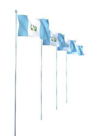 bandera de guatemala: Bandera de Guatemala Detalle Render