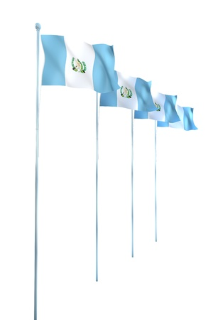 Guatemala Flag Detail Render  photo