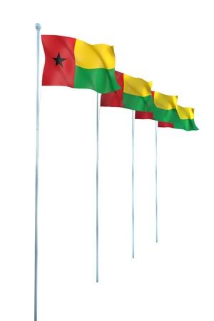 guinea bissau: Guinea Bissau Flag Detail Render  Stock Photo