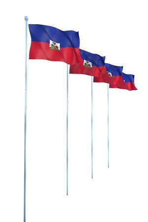 Haiti Flag Detail Render photo