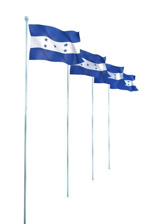 Bandera de Honduras Detalle Render photo