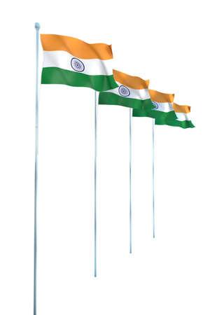 drapeau inde: Rendu Inde D�tail Drapeau