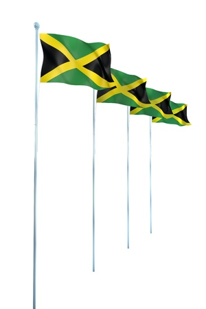 Jamaica Flag Detail Render photo