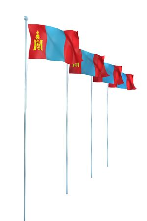 Rendu Mongolie Drapeau D�tail