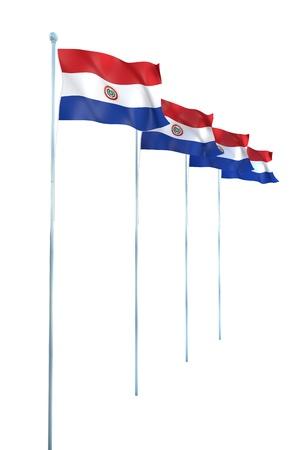 bandera de paraguay: Bandera de Paraguay Detalle Render Foto de archivo