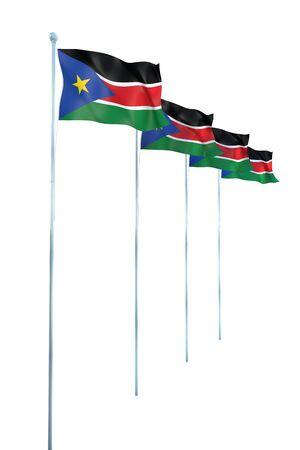 south sudan: South Sudan Flag Detail Render