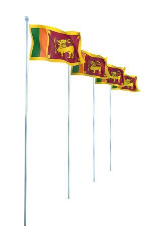 lanka: Sri Lanka Flag Detail Render
