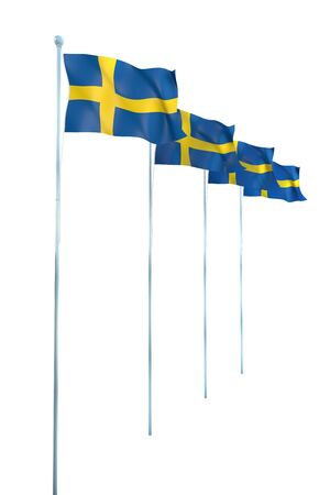 Sweden Flag Detail Render photo