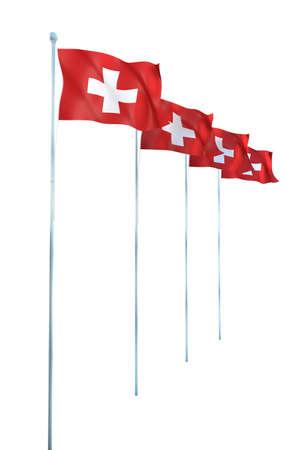 zwitserland vlag: Vlag van Zwitserland Detail Render
