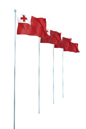 tonga: Tonga Flag Detail Render Stock Photo
