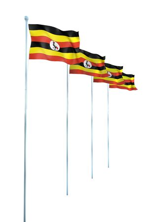 Uganda Flag Detail Render photo