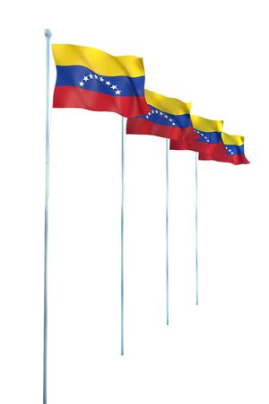 Bandera de Venezuela Detalle Render photo