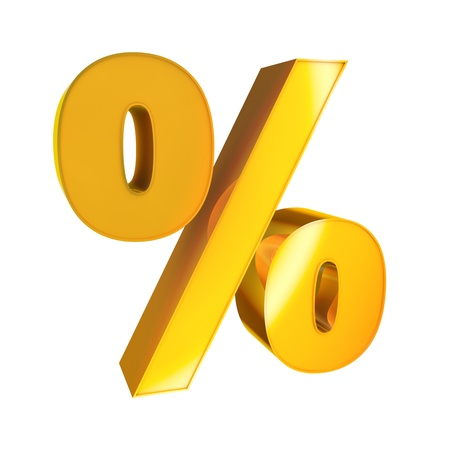 3d Gold Sign  Percent photo