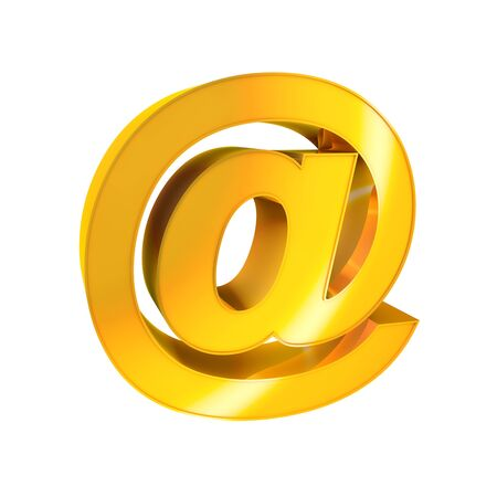 3d Gold Sign  E-mail Stock Photo - 16787347