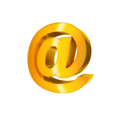 3d Gold Sign  E-mail Stock Photo - 16787271