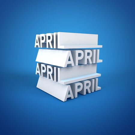 Block Calender APRIL Stock Photo - 16787372