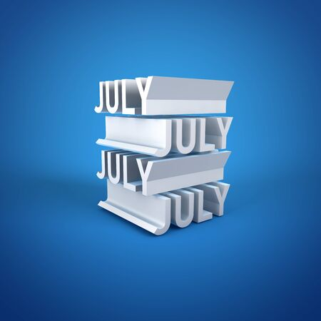 Block Calender JULY Stock Photo - 16787369