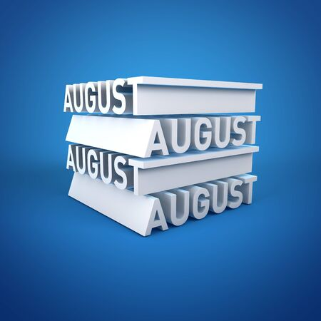 Block Calender AUGUST Stock Photo - 16787713