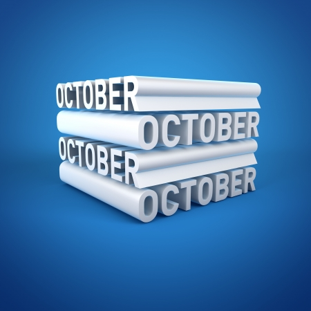 Block Calender OCTOBER Stock Photo - 16787708