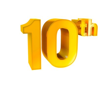 10th: Gold Character Collection  10th anniversary   Stock Photo