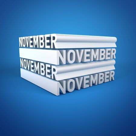 Block Calender NOVEMBER Stock Photo - 16787711