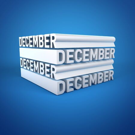 Block Calender DECEMBER Stock Photo - 16787710