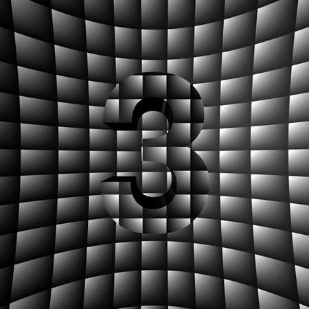 3D Illusion ABC Stock Photo - 16787619