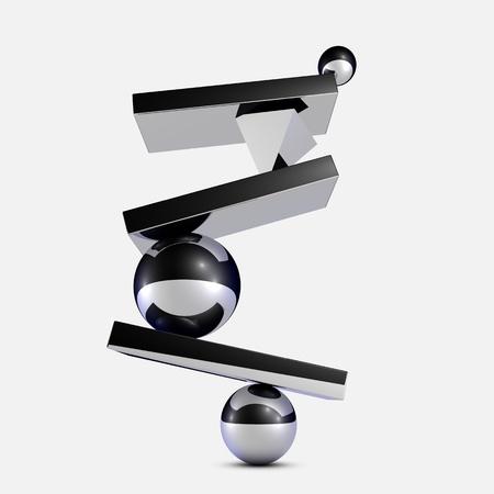 balance icon: 3D Balance