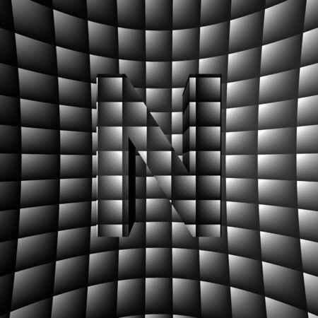 mirage: 3D Illusion ABC Stock Photo