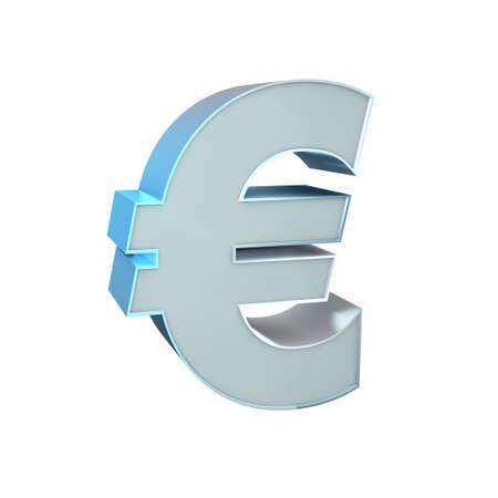 3d Silver Sign  Euro Stock Photo - 16815561