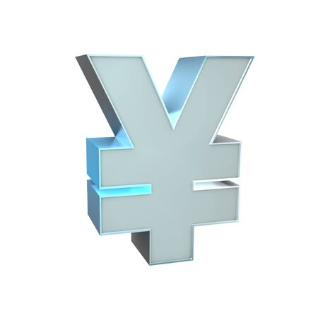 3d Silver Sign  Yen Stock Photo - 16815554