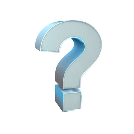 3d Silver Sign  Question Mark Stock Photo - 16815444