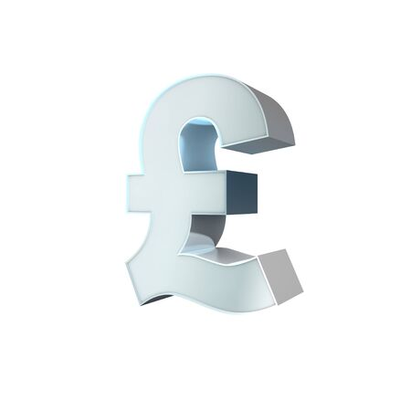 3d Silver Sign Pound Stock Photo - 16812200