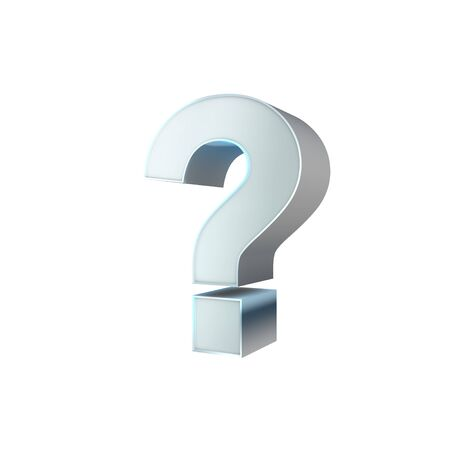 3d Silver Sign  Question Mark Stock Photo - 16812195
