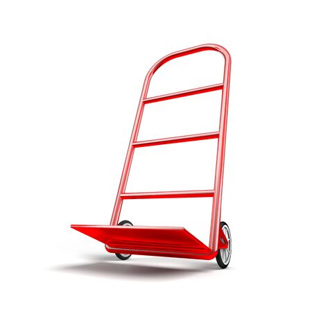 Hand Truck with box  photo